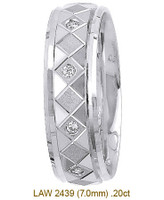 Men's Diamond Wedding Band 14K:White LAW2439M