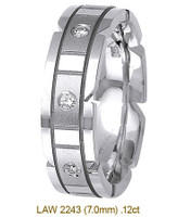 Men's Diamond Wedding Band 14K:White LAW2243M