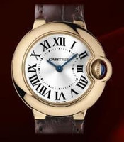 Cartier Ballon Bleu Small (RG/Silver/ Leather)