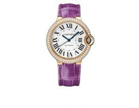 Cartier Ballon Bleu Medium (RG Diamonds/Silver/ Leather)