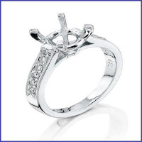 Gregorio 18K White Diamond engagment Ring R-5048