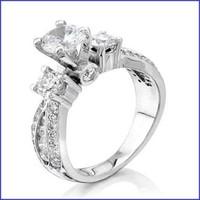Gregorio 18K White Diamond Engagement Ring R-4373