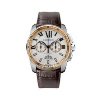Cartier Calibre Chronograph Steel & Pink Gold Watch W7100043