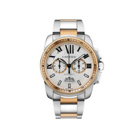 Cartier Calibre Chronograph Steel & Pink Gold Watch W7100042