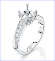 Gregorio 18K White Diamond Engagement Ring R-5026
