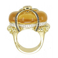 Citrine & 1.34 ct Diamond Ring