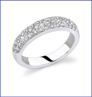 Gregorio 18K WG Diamond Engagement Band R-189B