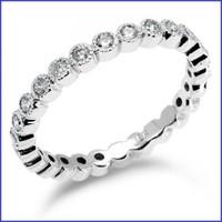 Gregorio 18K White Engagement Diamond Band R-345B