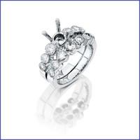 Gregorio 18k White Diamond Engagement Ring R-0037