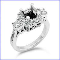 Gregorio 18K White Engagement Diamond Ring R-237