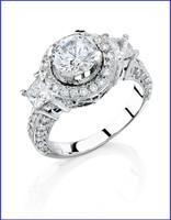 Gregorio 18K White Diamond Engagement Ring MTR-311