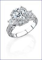 Gregorio 18K White Diamond Engagement Ring MTR-302