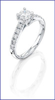 Gregorio 18K White Diamond Engagement Ring R-5608