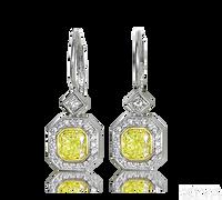 Ziva Yellow Diamond Earrings