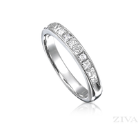 Ziva Princess Cut Diamond Wedding Band