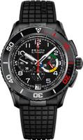 Zenith El Primero Stratos Flyback Rainbow Black TiAlum Watch 24.2063.405/21.R515