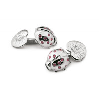 ZANNETTI LADYBIRD WITH RUBIES CUFFLINKS