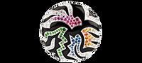 Van Der Bauwede 18K WG & Black Enamel Out of Africa Sapphire & Diamond Ring 00665