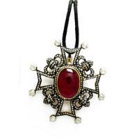 Tourmaline & 3.47 ct Diamond Designer Pendant/Brooch