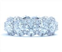 5.62 cttw Diamond Ring In 18k White Gold