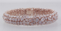 24.55 Carat Pink Cushion Diamond Bracelet SEB13034P