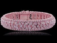 21.99 Carat Pink Diamond Bracelet SEB4424P
