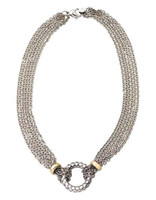 18Kt/Sterling Silver Multi Strand Necklace