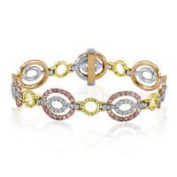 18K White & Yellow Gold Diamond Bracelet KB3069RWY-18K