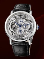 Cartier Rotonde Grand Complication (Platinum/Silver/ Leather)