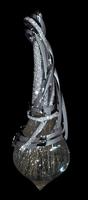 """Mousson Atelier Wind Collection """"Tornado"""" Gold Rutile Quartz & Diamond Pendant P0036-0/2"""