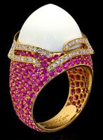 "Mousson Atelier New Age ""Fuji"" Gold Koholong & Sapphire Ring R0053-0/3"