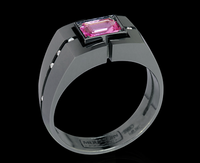Mousson Atelier Men's Jewellery Collection Gold Pink Sapphire Ring R0071-0/2