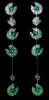 """Mousson Atelier Ladybug """"Bugs"""" Gold Tsavorite & Diamond Earrings E0039-0/6"""