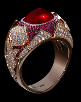 "Mousson Atelier Hi Jewellery Collection ""1000&1 Night"" Gold Ruby & Diamond Ring R0024-0/6"