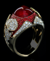"Mousson Atelier Hi Jewellery Collection ""1000&1 Night"" Gold Ruby & Diamond Ring R0024-0/3"