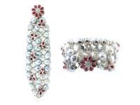 Baroque Pearl, Tourmaline & 7.44 ct Diamond Bracelet