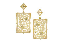 And 1.77 ct Diamond Mammoth Rectangular Earring