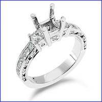 Gregorio Platinum Engagement Diamond Ring R-145