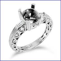 Gregorio Platinum Engagement Diamond Ring R-6241
