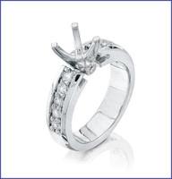 Gregorio Platinum Diamond Engagement Ring R-7257E