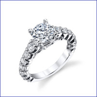 Gregorio 18K WG Diamond Engagement Ring R-593