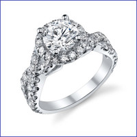 Gregorio 18K WG Diamond Engagement Ring R-580-1