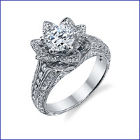 Gregorio 18K WG Diamond Engagement Ring R-549