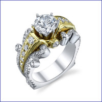 Gregorio 18K WG Diamond Engagement Ring R-519-1
