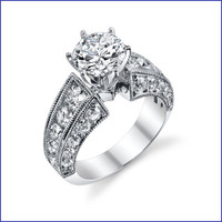 Gregorio 18K WG Diamond Engagement Ring R-3252-3