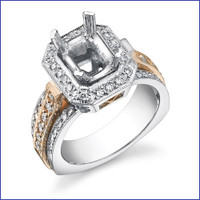 Gregorio 18K WG Diamond Engagement Ring MTR-326