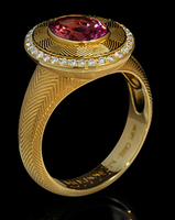 Mousson Atelier Tweed Collection Gold Tourmaline & Diamond R0084-0/2