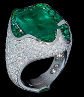 Mousson Atelier Hi Jewellery Collection Gold Emerald & Diamond Ring R0056-0/1