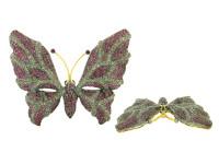 Ruby & 2.04 ct Diamond Butterfly-Shaped Brooch