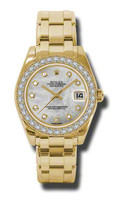 Rolex- Datejust 34mm Special Edition Yellow Gold Masterpiece 34 Dia Bezel 81298MD
